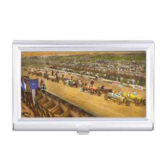 Car Race - Life in the fast lane 1925 Business Card Holder