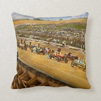 Car Race - Life in the fast lane 1925 Throw Pillow