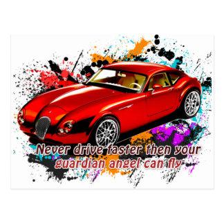 Car Race Postcard