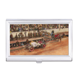 Car Race - Racing to get gas 1908 Business Card Holder