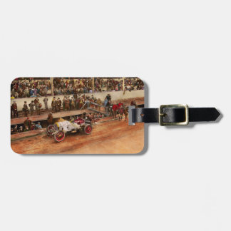 Car Race - Racing to get gas 1908 Luggage Tag
