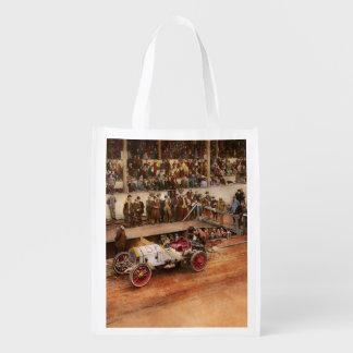 Car Race - Racing to get gas 1908 Reusable Grocery Bag