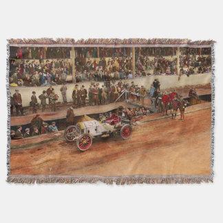 Car Race - Racing to get gas 1908 Throw Blanket