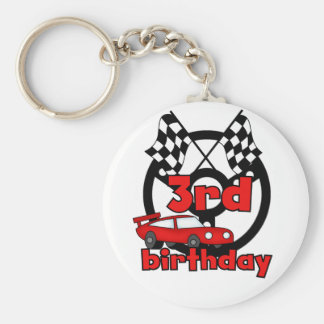 Car Racing 3rd Birthday Tshirts and Gifts Key Chains