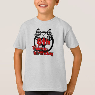 Car Racing 8th Birthday T-Shirt