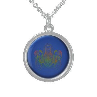 Car Racing Sterling Silver Necklace