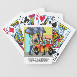 Car Repair Cartoon 8532 Bicycle Playing Cards