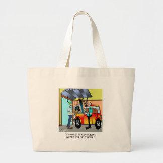 Car Repair Cartoon 8532 Large Tote Bag
