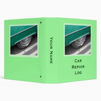 Car Repair Log 3 Ring Binders