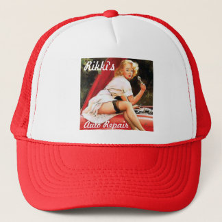 Car Repair Pinup Trucker Hat