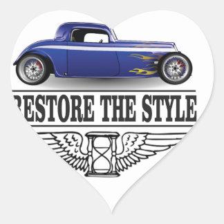 car restore the style heart sticker