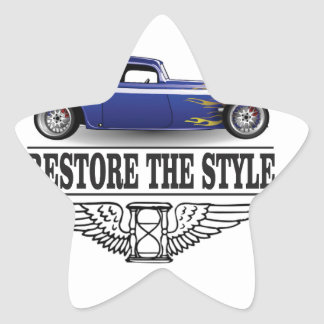 car restore the style star sticker