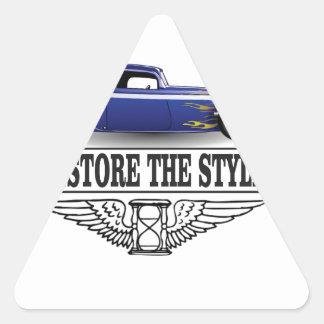 car restore the style triangle sticker