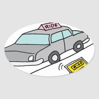 Car ride app service oval sticker