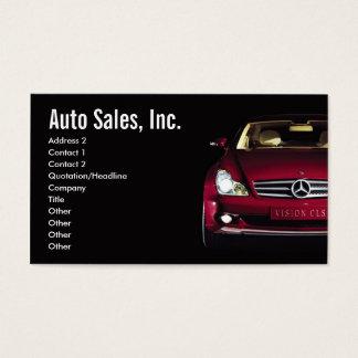 Car Sales Business Cards