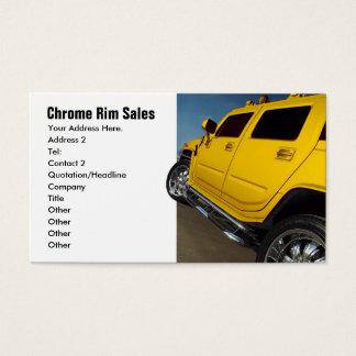 Car Sales, Rim Sales Business Card
