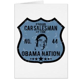 Car Salesman Obama Nation Greeting Card