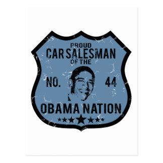 Car Salesman Obama Nation Postcard
