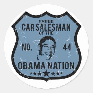 Car Salesman Obama Nation Sticker