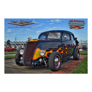 Car Show Television Hot Rod Daytona Turkey Run Poster