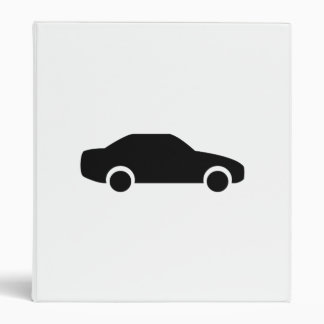 Car Silhouette 3 Ring Binders