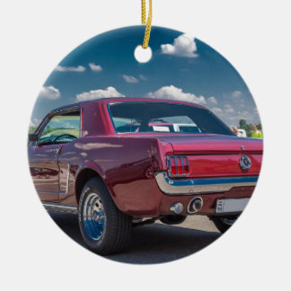Car Sports Mustang Red Muscle Motor Gears Metal Ceramic Ornament