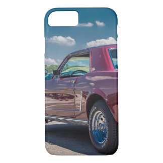 Car Sports Mustang Red Muscle Motor Gears Metal iPhone 7 Case
