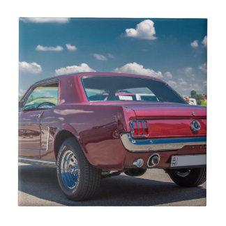 Car Sports Mustang Red Muscle Motor Gears Metal Tile