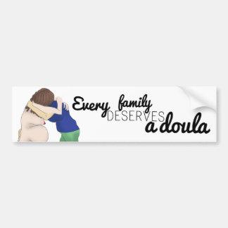 Car sticker - every family deserves a doula bumper sticker