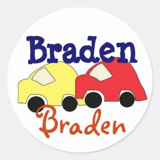 Car stickers for Name Braden