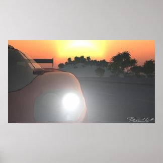 Car Sunset Poster