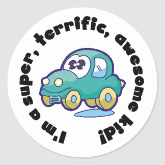 Car Super Terrific Awesome Kid Stickers