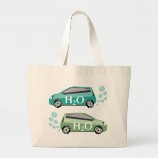 Car that runs on water vector large tote bag