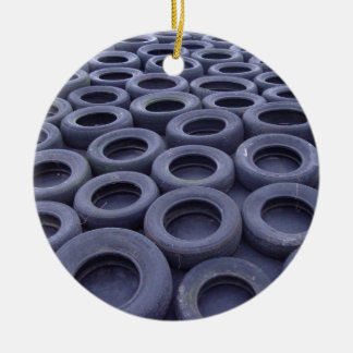 Car Tires Ceramic Ornament