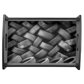 Car tires pattern serving tray