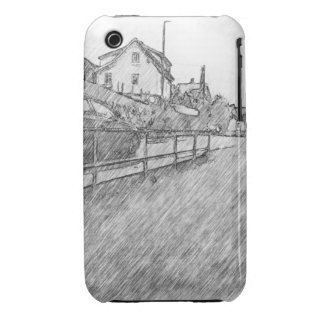 car traffic drawing Case-Mate iPhone 3 case