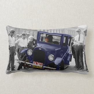 Car Troubles Vintage Photo Pillow