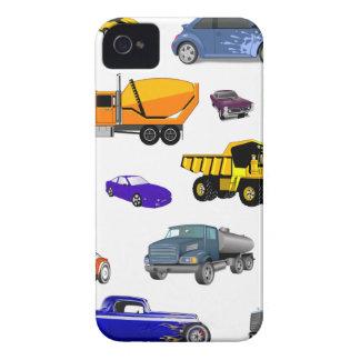 car truck firetruck bulldozer bus race cars more iPhone 4 Case-Mate cases