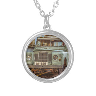 Car Vehicle 4x4 Street Automobile Silver Plated Necklace