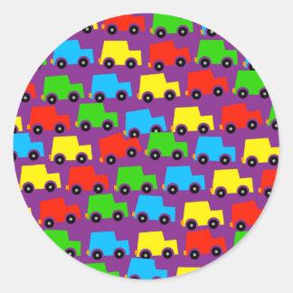 Car Wallpaper Classic Round Sticker