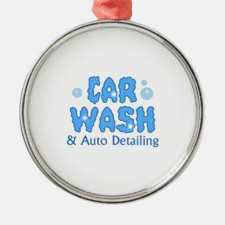 CAR WASH AUTO DETAILING METAL ORNAMENT