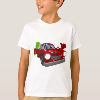 Car Wash Cartoon Mascot T-Shirt