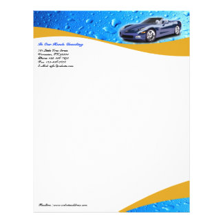 Car Wash/Detailing Letterhead