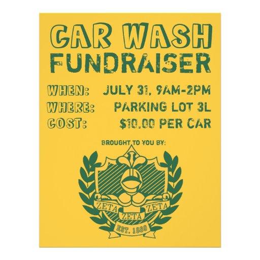 car wash fundraiser flyer zazzle. Black Bedroom Furniture Sets. Home Design Ideas
