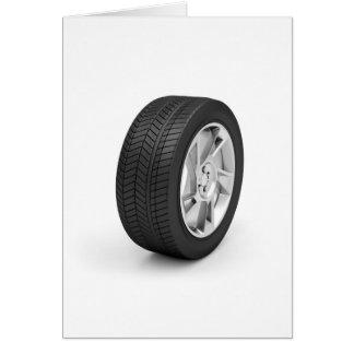 Car wheel card