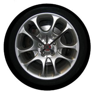 Car Wheel hubcap clock