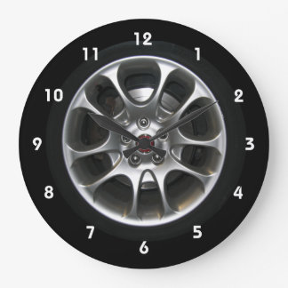 Car Wheel hubcap clock with numbers