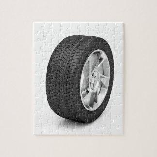 Car wheel jigsaw puzzle