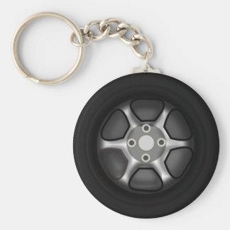 Car Wheel Keychain