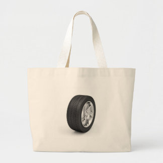 Car wheel large tote bag